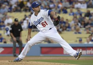 Josh Beckett wasn't involved in the decision after the Dodgers and Tigers exchanged leads throughout the game. Photo: Jayne Kamin-Oncea-USA TODAY Sports