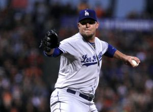 Paul Maholm is still looking for his first win as a Dodger. Photo: Lance Iversen-USA TODAY Sports