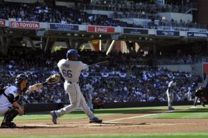 Puig's monster shot-Andrew Fielding-USA TODAY Sports