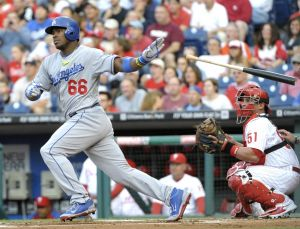 Puig is on fire again-Eric Hartline-USA TODAY Sports