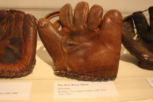 My favorite artifact was the glove of Pee Wee Reese. Photo: Stacie Wheeler