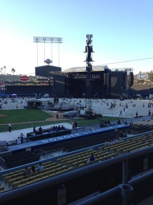 Dodger Stadium was transformed into a Concert venue for Paul McCartney. August 10, 2014. Photo: Stacie Wheeler