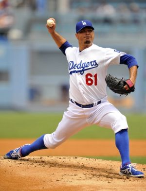 Josh Beckett only lasted four innings in the loss to the Cubs. Photo: Gary A. Vasquez-USA TODAY Sports