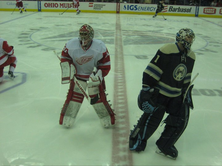 Believe it or not, Joey Macdonald used to play for Detroit, and Steve Mason used to play for Columbus.