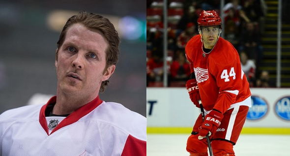 Todd Bertuzzi or Daniel Cleary. Mandatory Credit: Jerome Miron-USA TODAY Sports and Andrew Weber-USA TODAY Sports
