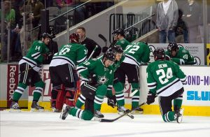 Play is stopped after Dallas Stars Center Rich Peverley collapses