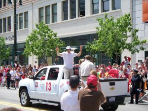 Pavel Datsyuk at the 2008 Stanley Cup Parade. Photo by Christina Roberts