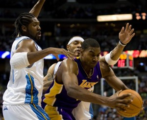 Could Andrew Bynum be the go-to guy for the Nuggets?
