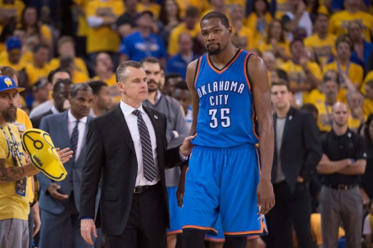 Kevin-durant-billy-donovan-nba-playoffs-oklahoma-city-thunder-golden-state-warriors-768x511