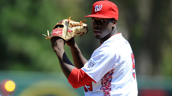 Touki Toussaint has agreed to a deal with the D'backs, . Credit: prospectinsider.com