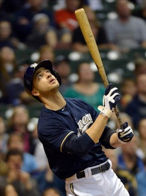 Ryan Braun will be back to start the 2014 season with the Brewers. Mandatory Credit: Benny Sieu-USA TODAY Sports