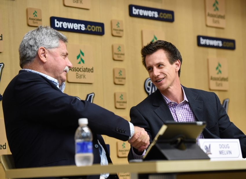 Craig-counsell-doug-melvin-mlb-los-angeles-dodgers-milwaukee-brewers