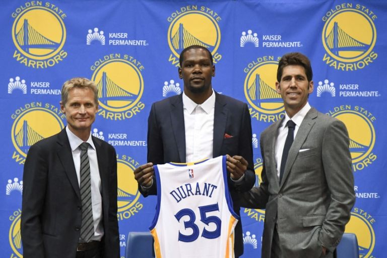 Kevin-durant-steve-kerr-bob-myers-nba-golden-state-warriors-press-conference-768x511