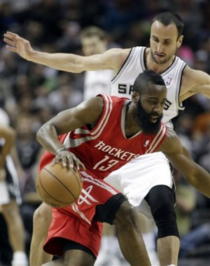 James Harden, Manu Ginobili