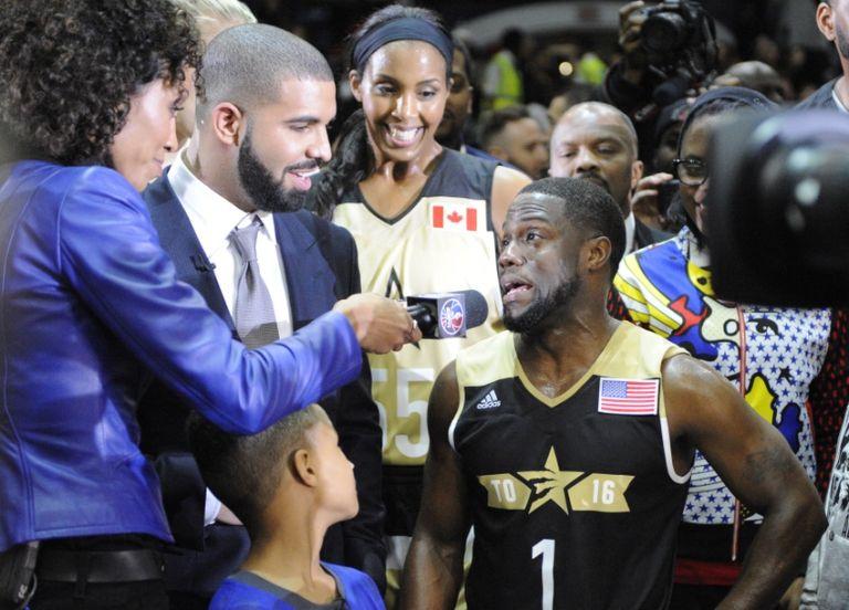 Drake-kevin-hart-sage-steele-nba-all-star-celebrity-game-768x0