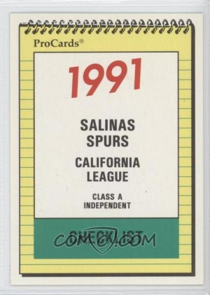 The Salinas Spurs of the California League!