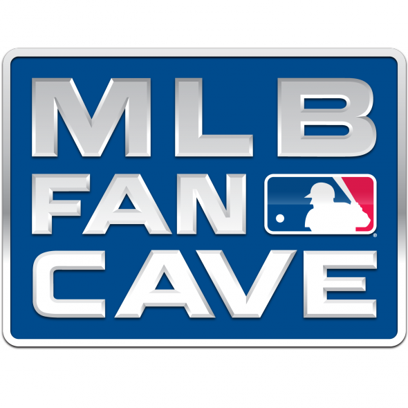 This is the logo for the MLB Fan Cave. http://mlbfancave.mlb.com/fancave/images/mlb_fan_cave_logo_fb.png