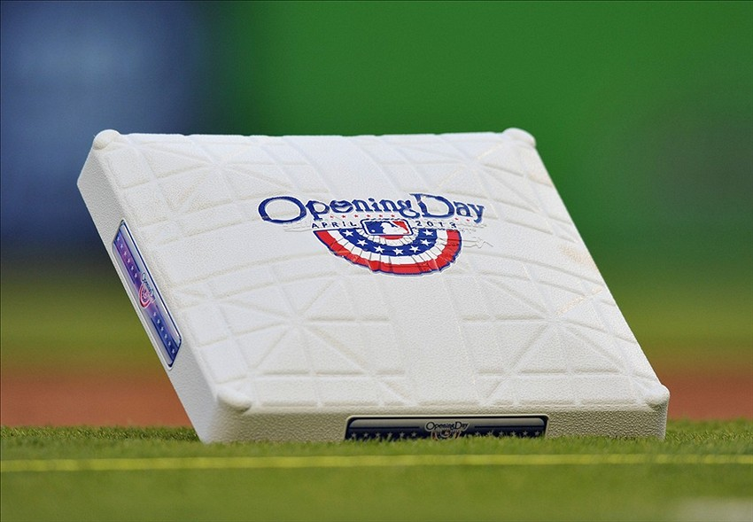 Apr 8, 2013; Miami, FL, USA; a detail shot of third base during opening night of a game between the Atlanta Braves and the Miami Marlins at Marlins Park. Mandatory Credit: Steve Mitchell-USA TODAY Sports
