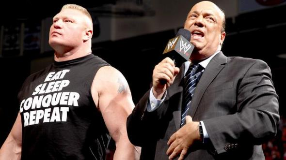 Brock Lesnar, Paul Heyman and...John Cena? Photo Credit: WWE.com