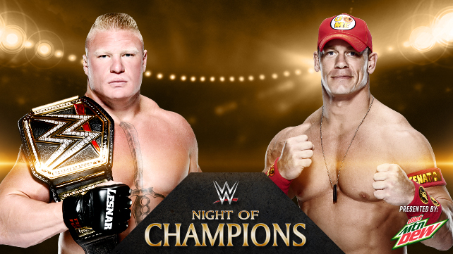WWE Night of Champions Predictions: Brock vs. Cena
