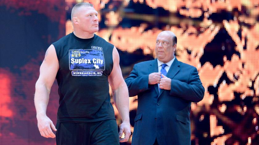 Brock Lesnar Paul Heyman Raw