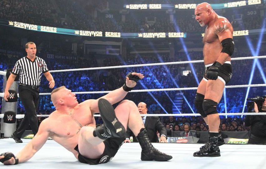 Goldberg Brock Lesnar Survivor Series