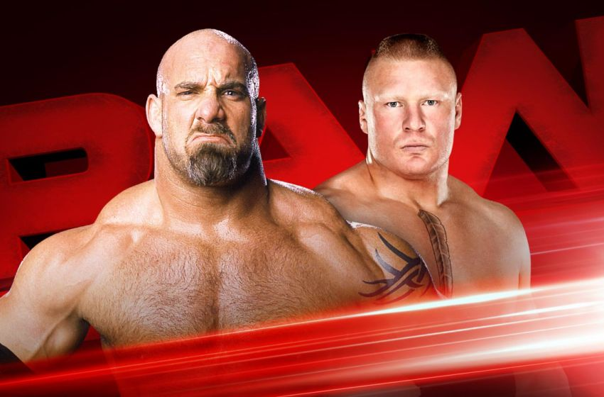 Goldberg Lesnar Raw