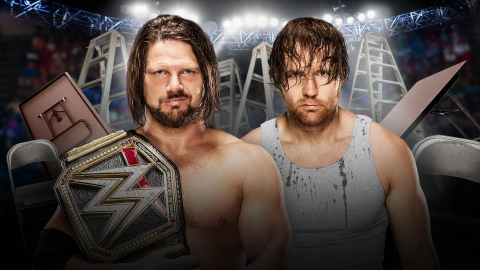 Image result for aj styles vs dean ambrose tlc