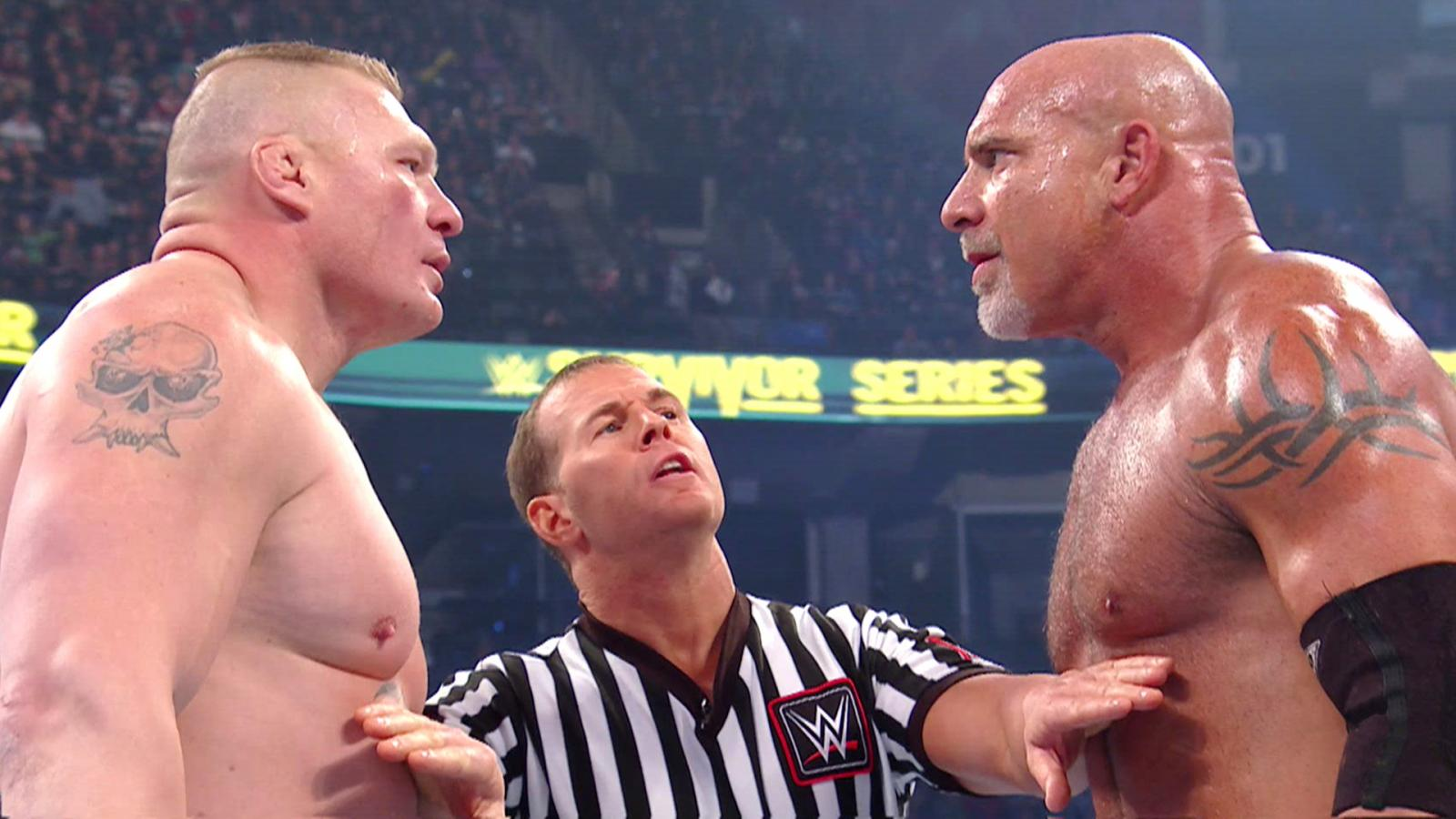 Goldberg Lesnar Survivor Series