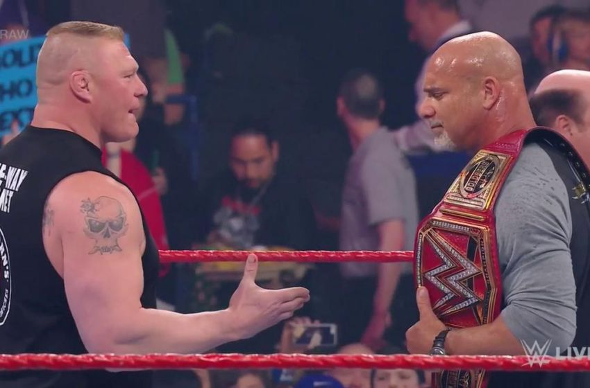 Image result for lesnar f5 goldberg on raw