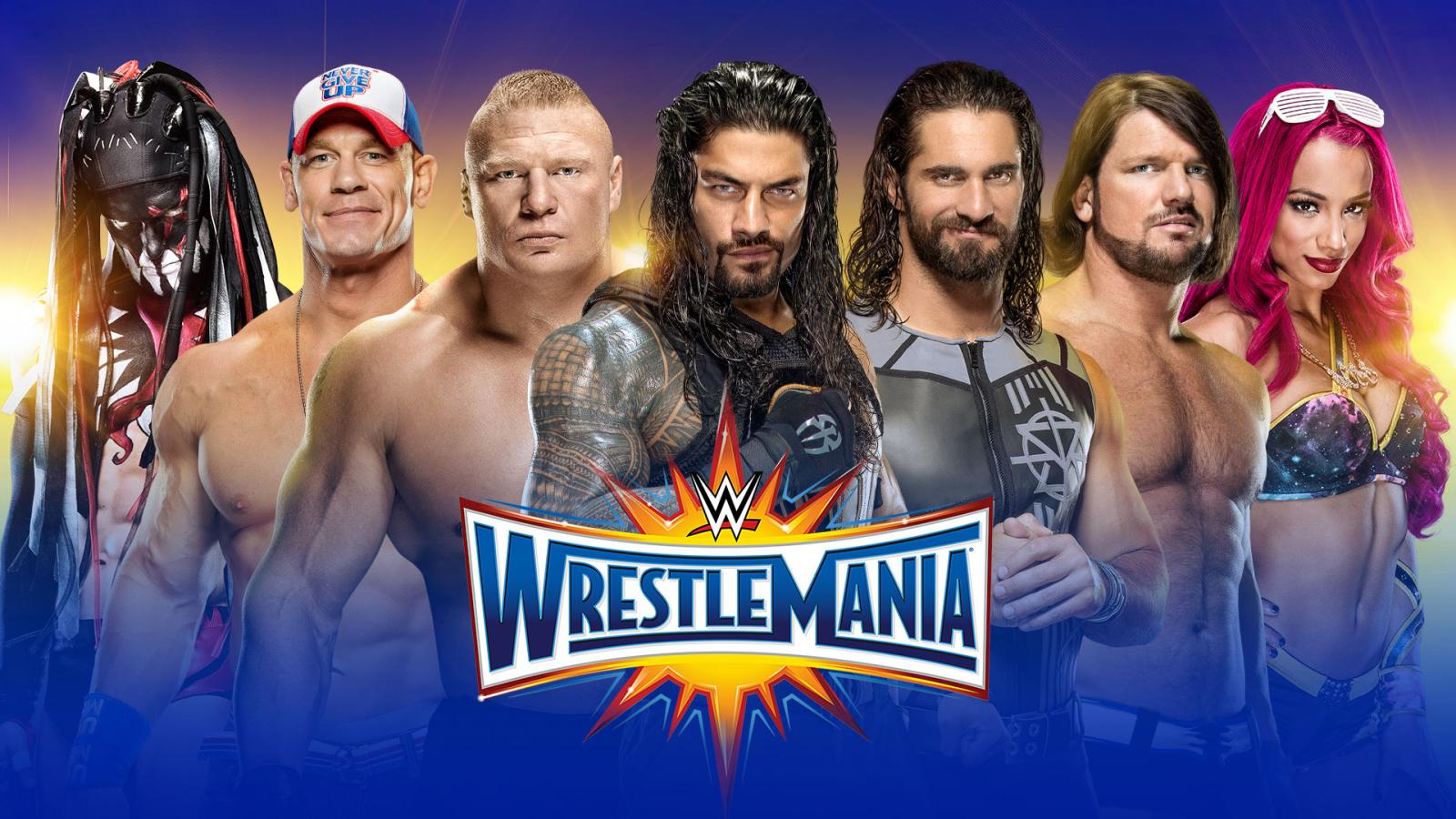 wwes wrestlemania 33 poster overreacting to and