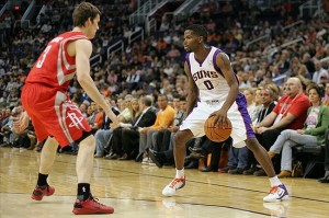 Aaron Brooks when he was with the Phoenix Suns