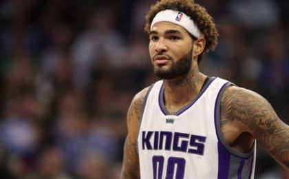 Oct 18, 2016; Sacramento, CA, USA; Sacramento Kings center Willie Cauley-Stein (00) during the fourth quarter against the Los Angeles Clippers at Golden 1 Center. Mandatory Credit: Sergio Estrada-USA TODAY Sports