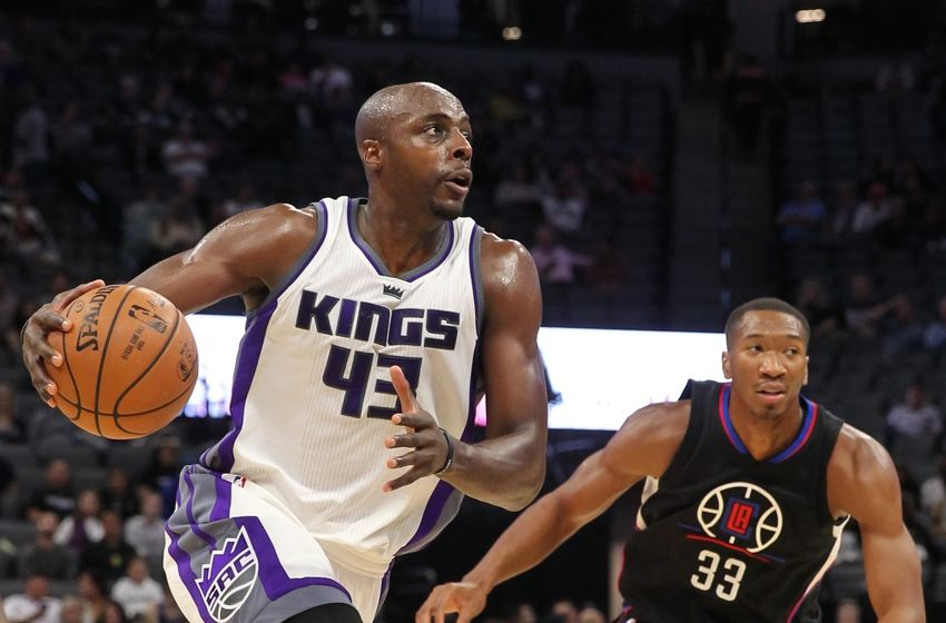 Oct 18, 2016; Sacramento, CA, USA; Sacramento Kings forward Anthony Tolliver (43) during the fourth quarter against the Los Angeles Clippers at Golden 1 Center. Mandatory Credit: Sergio Estrada-USA TODAY Sports