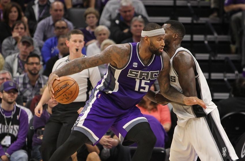 Oct 27, 2016; Sacramento, CA, USA; Sacramento Kings center DeMarcus Cousins (15) during the game against the San Antonio Spurs at Golden 1 Center. The Spurs won the game 102-94. Mandatory Credit: Sergio Estrada-USA TODAY Sports