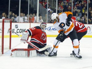 Devils allow a power play goal to Wane Simmonds