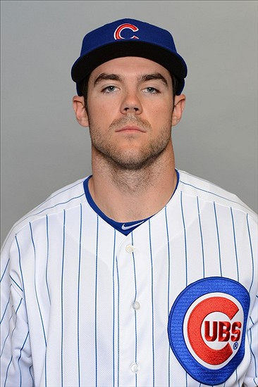 Feb 18, 2013; Mesa, AZ, USA; Chicago Cubs center fielder Matt Szczur (72) poses for a picture during photo day at Fitch Park. Mandatory Credit: Jake Roth-USA TODAY Sports