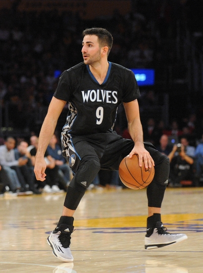 daf6c816d68 October 28, 2015; Los Angeles, CA, USA; Minnesota Timberwolves guard Ricky  Rubio (9) controls the ball against the Los Angeles Lakers during the  second half ...