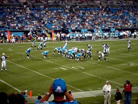 Panthers and Ravens Game Action