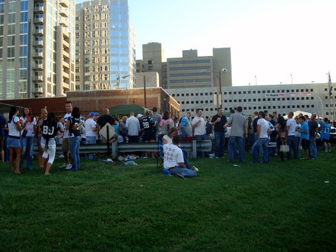 Big tailgate party uptown Charlotte!