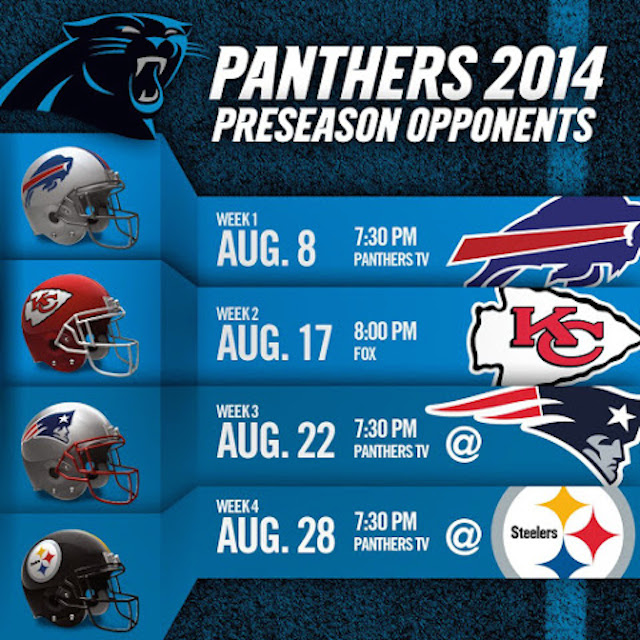 Panthers PreSeason Schedule