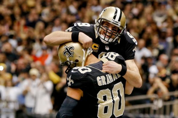 Jimmy Graham gives Brees PLENTY of reasons to celebrate Mandatory Credit: Derick E. Hingle-USA TODAY Sports