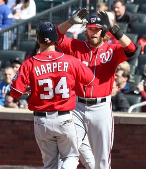 Bryce Harper hit two homers and drove in 3 as part of a 3-3 effort.