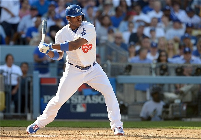 Despite his occasional mental gaffes, Yasiel Puig emerged as one of the NL's best outfielder in 2013 Mandatory Credit: Jayne Kamin-Oncea-USA TODAY Sports