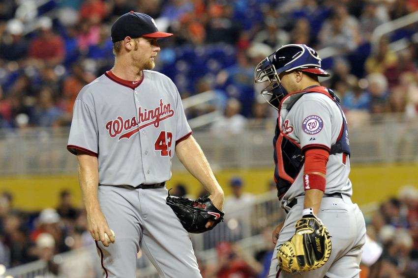 - sandy-leon-stephen-strasburg-mlb-washington-nationals-miami-marlins