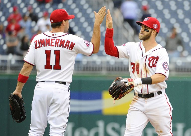 Ryan-zimmerman-bryce-harper-mlb-game-one-toronto-blue-jays-washington-nationals-768x0