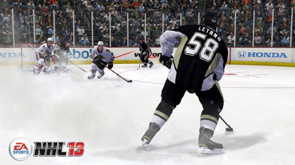 Kristopher Letang, #58 for the Pittsburgh Penguins, in video game form. Credit: https://images-na.ssl-images-amazon.com/images/G/01/videogames/detail-page/nhl13.05.lg.jpg