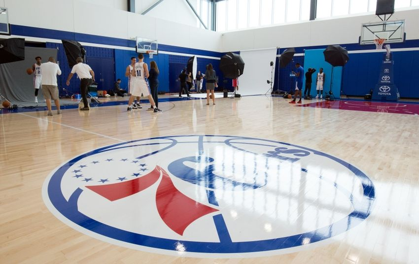 Sep 26, 2016; Philadelphia, PA, USA; General view of the Philadelphia 76ers Training Complex during media day. Mandatory Credit: Bill Streicher-USA TODAY Sports