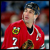 Chris Chelios-Chicago Blackhawks (Picture Provided by Sportsillustrated.cnn.com)