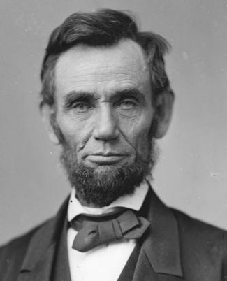 Portrait of Abraham Lincoln the 16th President of the United States (picture courtesy of nps.gov)